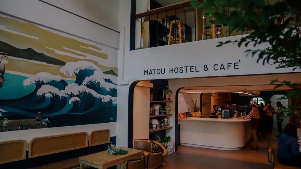 Matou Hostel & Cafe คาชเฟ่สไตล์มินิมอล